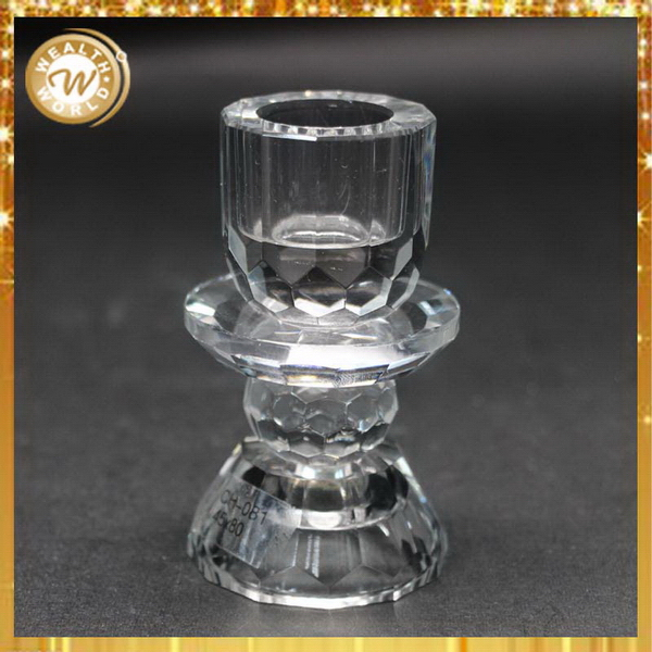 Top quality best selling angel crystal glass candle holder
