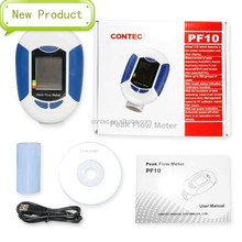 2015 CONTEC New Product--PF10 Peak Flow Meter For Examining Lung Function, With LCD Display, With PC Software