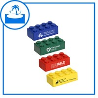 supplier cheap promotional gift imprinted logo custom PUBuilding Block Stress Ball 4 Piece Set