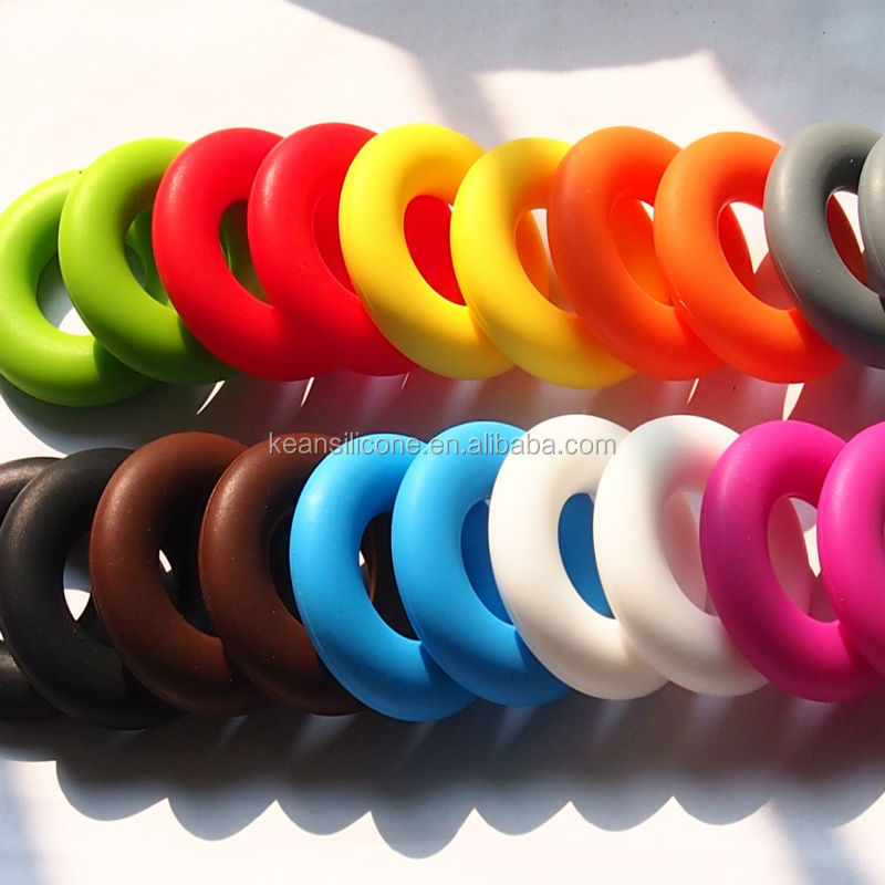 Silicone Doughnut Pendant Teething Wholesale/ Love Doughnut Pendant Necklace for Baby Chewing