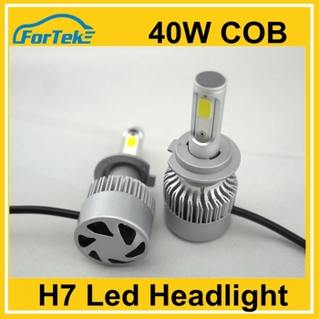 New Products H7 led cob headlamp 40W high bright automotive lights