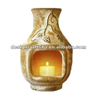 ceramic chiminea candle pot