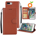 For apple phone Solid color leather wallet sell phone for iPhone8 plus case