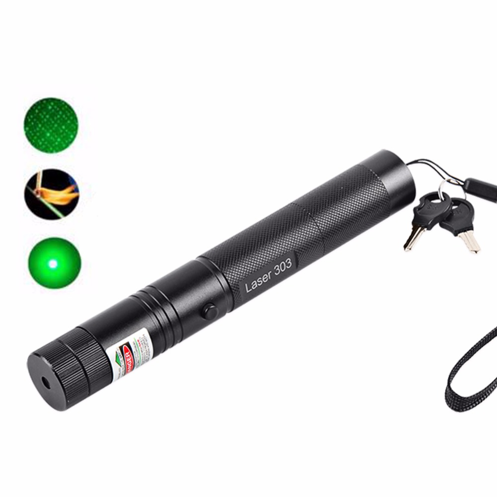 2016 High power 532nm 10000mw green laser pointer 303 flashlight Burning Matches + charger+ gift box