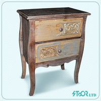 Chinese living room side small wood display pray cabinet