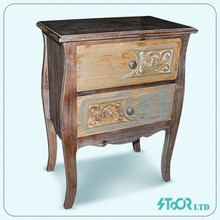 Chinese living room side small wood pray cabinet