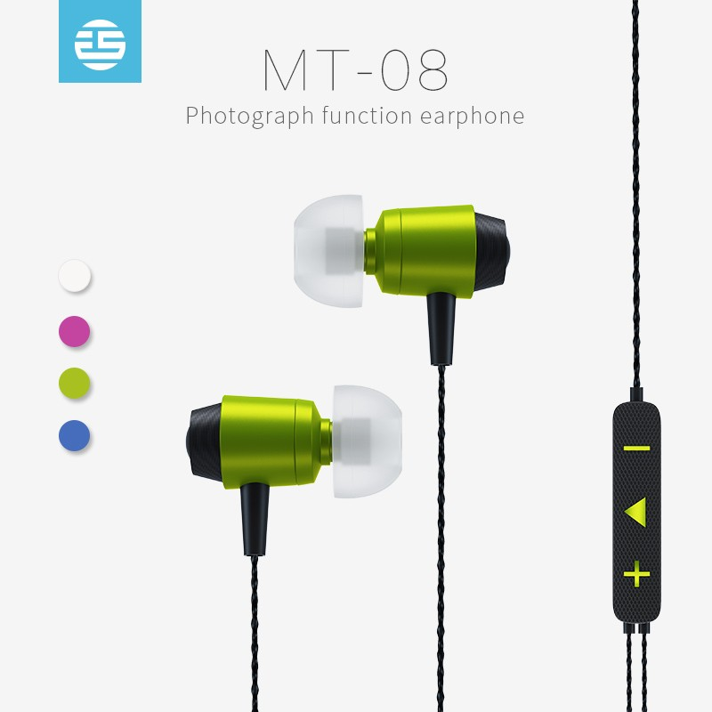 Metal mini mp3 player retractable earbuds