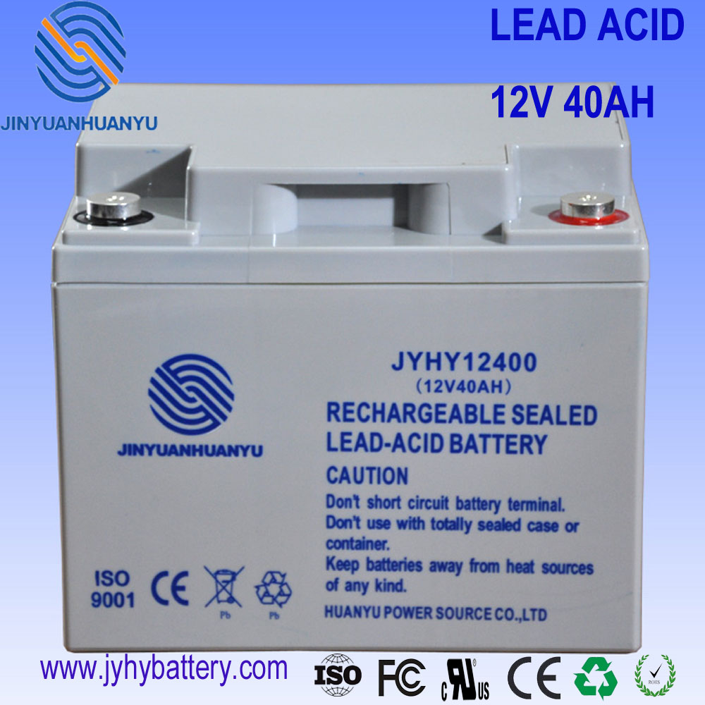 Solar Battery off grid Deep Cycle Maintenance Free 12V 40AH lead acid Rechargeable Battery for storage system