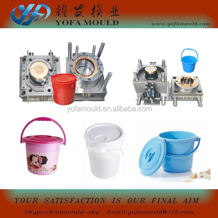 30L or 20L or 10L Plastic Paint Bucket Injection Mould in YOFA mould for exporting