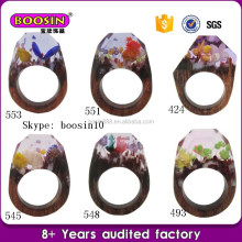 Custom uniqe jewelry rings, fashion wood rings hot sale
