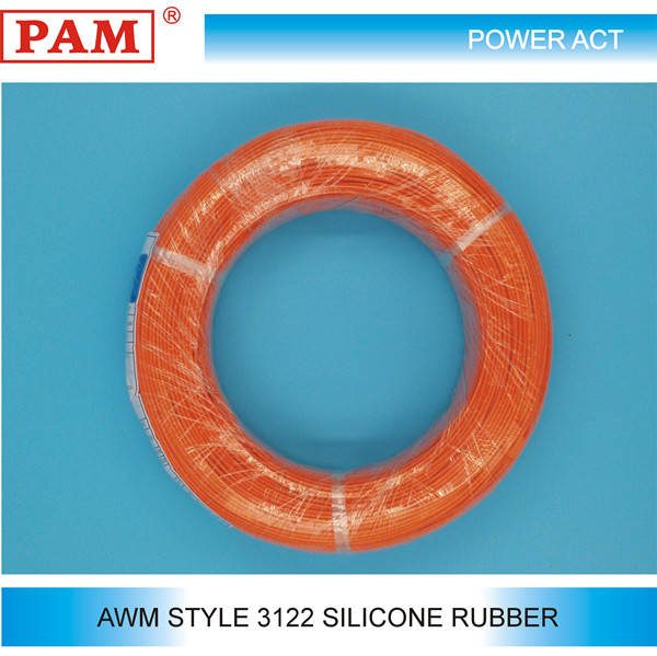 AWM Style 3122 Fiberglass Braid Silicone Rubber Insulation Cable and Wire Rod