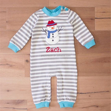 Christmas baby long sleeve Snowman pattern baby boy romper