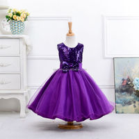 cheap purple girls frock design for baby girl birthday dress