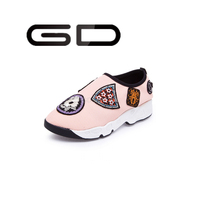 GD 2015 factory OEM customize sports trainer, women men sports shoes with beautiful embroider