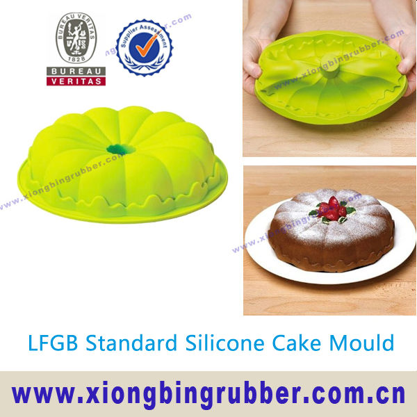 LFGB certification flower silicone cake mould