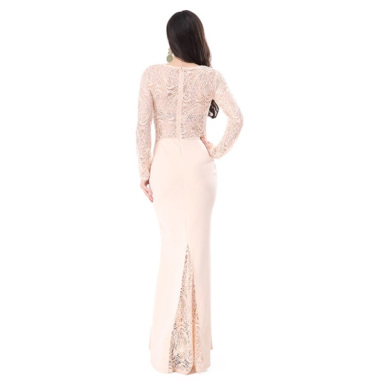 Fashion Lace Maxi Soft Elegant Evening Dress Women