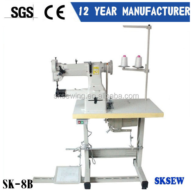 single needle 8B cylinder bed sewing machine with leather bag