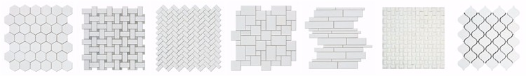 Decorstone24 China Factory Basalt Bluestone Mosaic Tiles Hexagon Chevron Design For Decoration