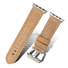 38/42 mm Genuine Soft layer Cowhide wholesale leather apple watch Straps