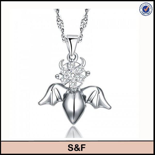 Angel wings 925 sterling silver pendant silver price 925 per gram