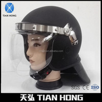 Full Face PC+ABS Convex Visor Anti Riot Helmet With Gas Mask