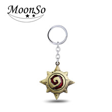 2016 Game Series Wow World of Warcraft Hearthstone Heroes Metal Keychain For Fans Cool Keyring Jewelry Accessory Moonso KK2015