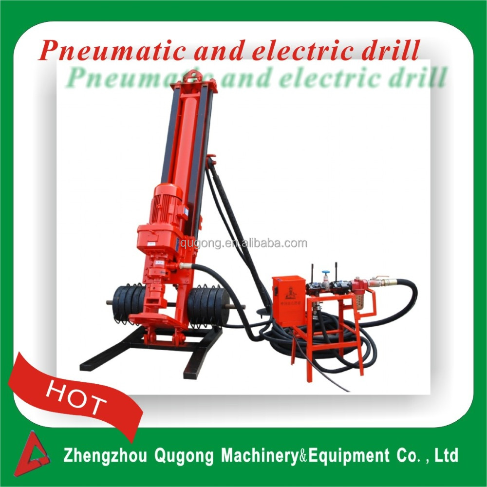 50m Portable wheels mobile Electric/diesel water well drilling machine/Air DTH water well bore hole drilling rig
