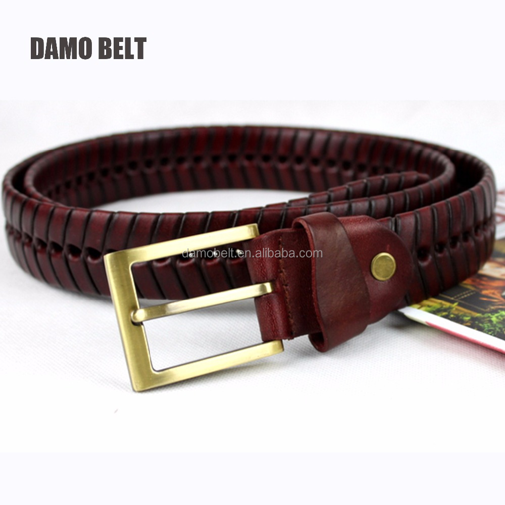 Colorful Men Elastic Stretch Woven/Braided Belt with Alloy Buckle