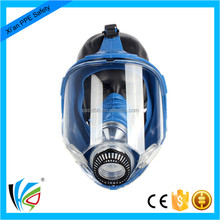 Military Safety Chemical Respirator Gas Mask With Wide Field Of Vision