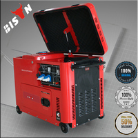 BISON China Taizhou 5KW Soundproof Diesel Fuel Power Generators Spain with wheels