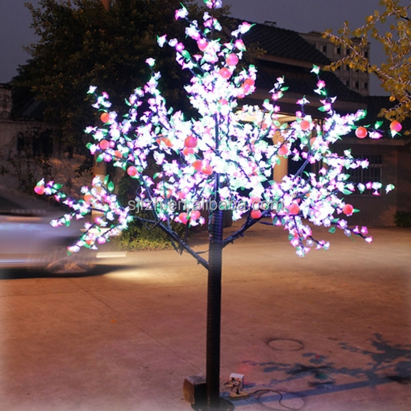 2.5m 8ft White and Pink cherry tree features 1728 LED flower lights.