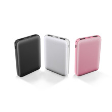 universal factory oem portable mobile slim dual USB powerbank 10000mAh