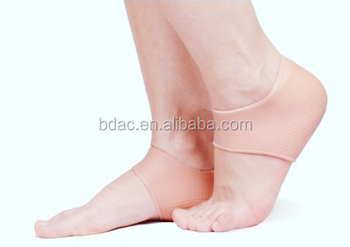 soft gel dry foot heel sock moisturizing plantar fasciitis foot compression sleeves