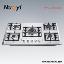 5 burners gas cooker hob and hood gas