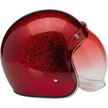 mini and fashional helmet with red shield visor