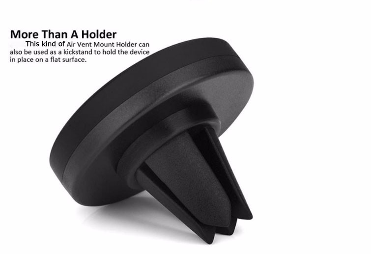 2017 promotional gift Air Vent mobile car mount , best quality flexible phone holder One Step Mounting magnetic holder car mount