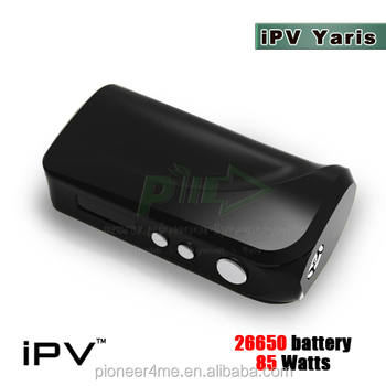 Fast shipping iPV Yaris 26650 box mod smaller size iPV Yaris 85w box mod