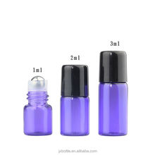 ,imi Glass 10 ml Perfume Bottle Essential Oil Roll on Bottle with Black Plastic Cap and Stainless Steel Roller