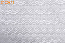 Latest design bridal decoration trim white african french lace fabric S120315