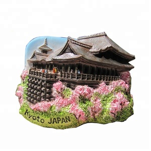 Newest 3d souvenir custom resin fridge magnet japan