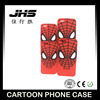 Interesting cartoon design Spider-man silicone cell phone case for iPhone 5/6/7