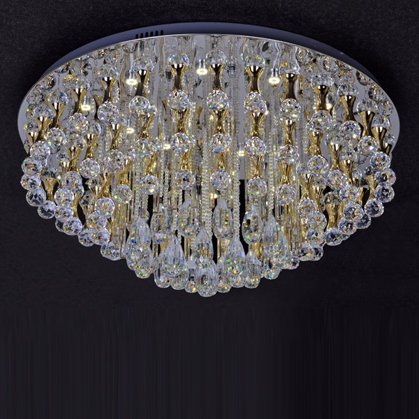 cystal ceiling light for hotel lobby fashionable chandelier crystal light