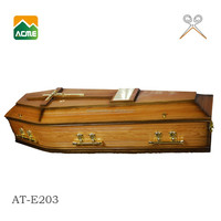 AT-E203 luxury white coffins supplier
