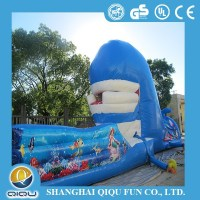Qiqu blue whale inflatable slide on sale for kids