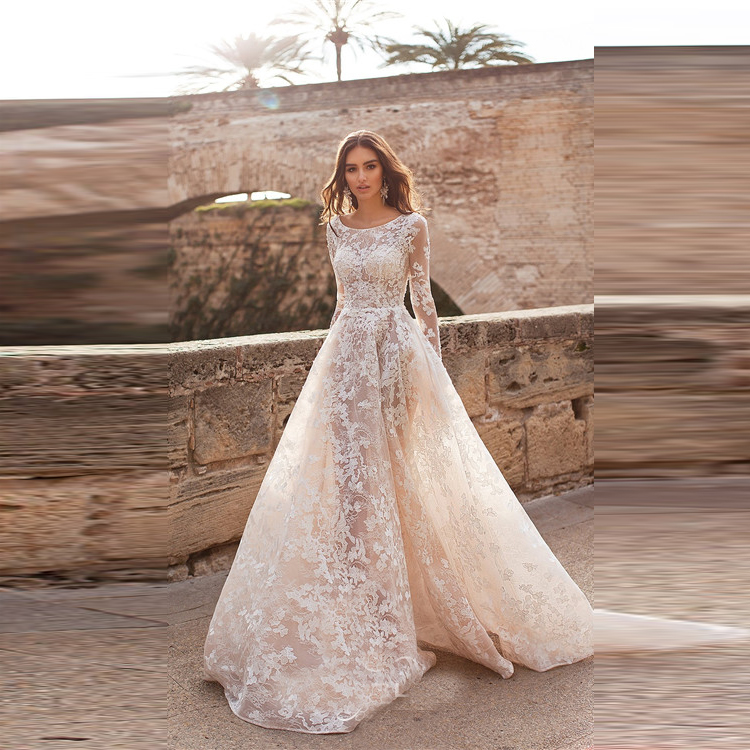 Best Lace Wedding Dress Patterns 2018 Vintage Graceful Long Sleeves