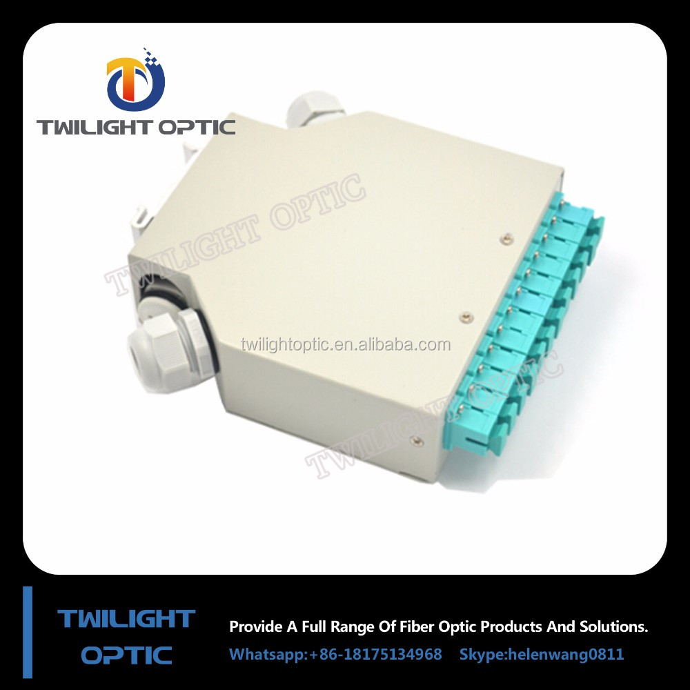 DIN Rail Fiber Splice Box with 6 LC quad Adapter Multimode OM4 Manufaturer&Supplier&Factory