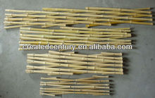 Natural bamboo folding lattice fence