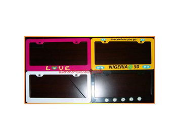 Nigeria PLASTIC CAR LICENSE plate frame with raised logo