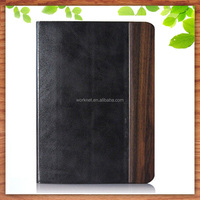 2016 Christmas gift wholesale wood pu leather tablet cover for iPad mini 4, for ipad mini 4 case wood