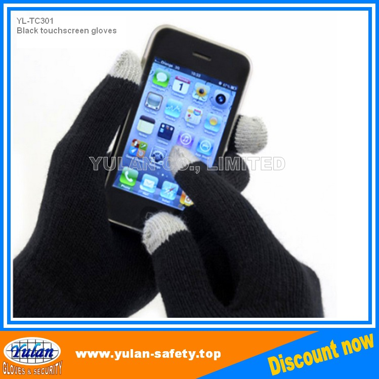 YLSAFETY conductive yarns touch screen glove ,smart phone glove,china supplier